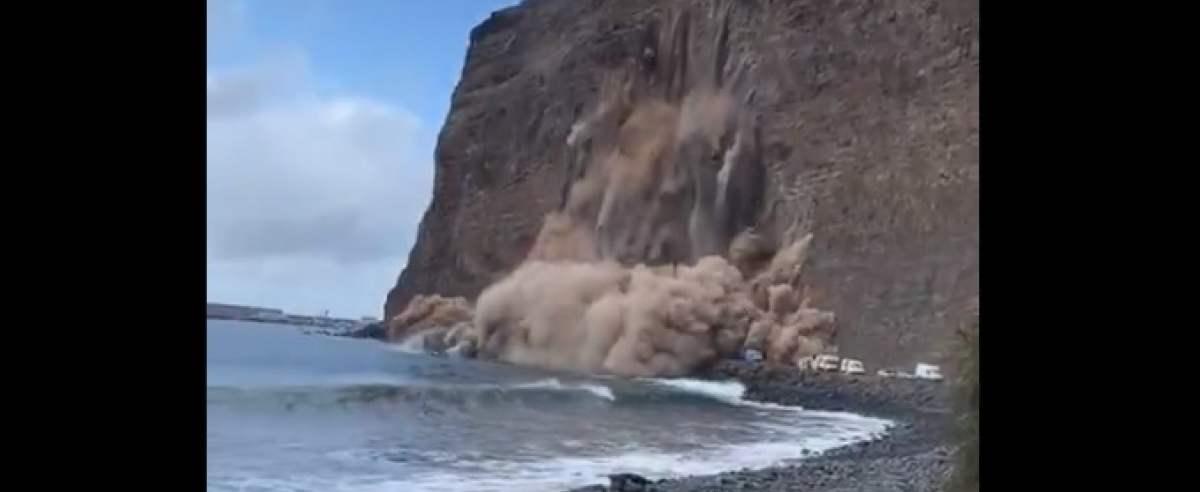 nagranie lawiny kamieni na La Gomerze