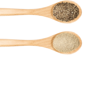Spoons with spice