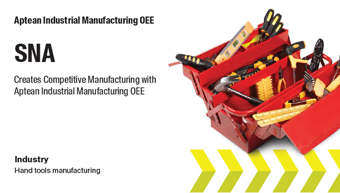 Aptean Industrial Manufacturing OEE Case Study: SNA