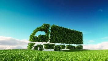 grass truck in field