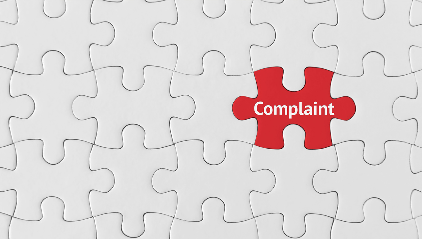 Puzzle piece saying Complaint