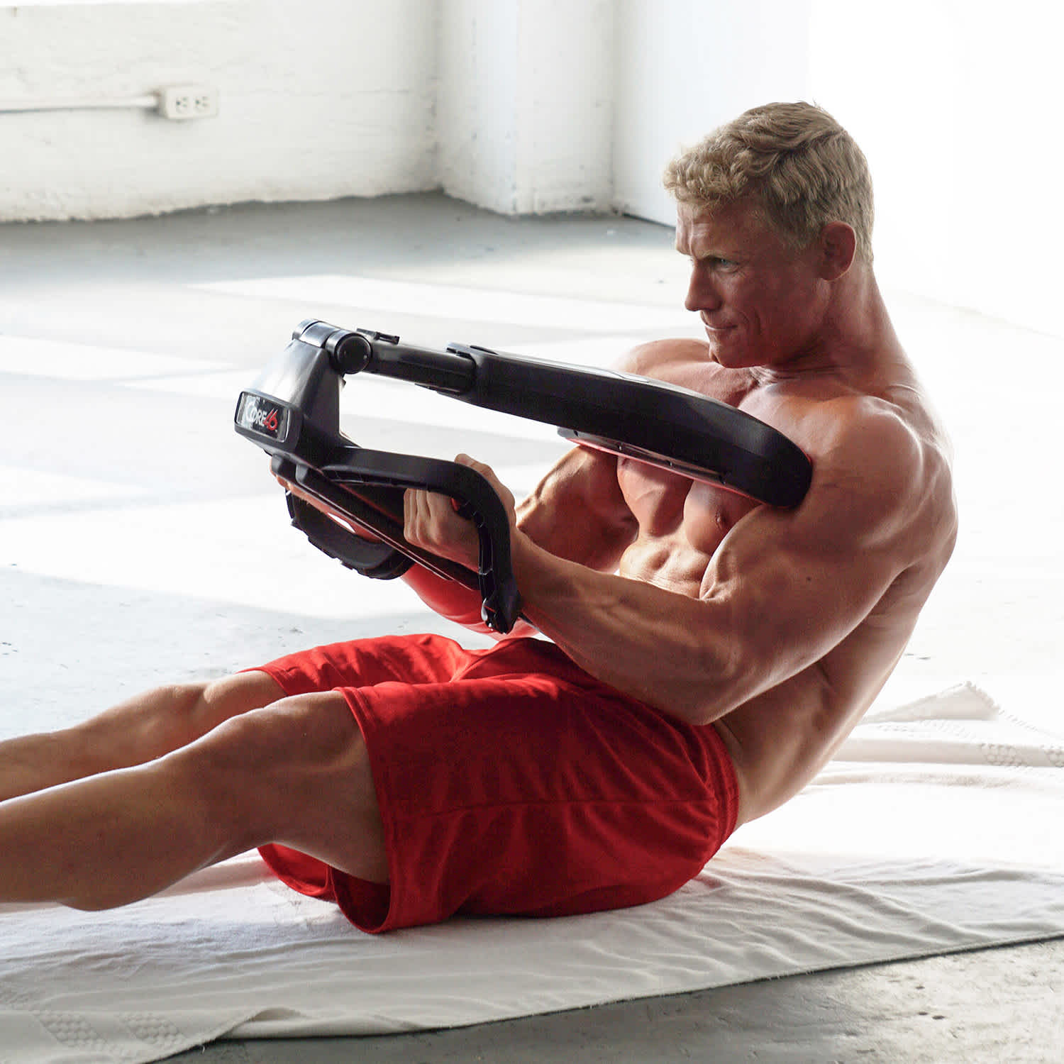 The Core46 Total Core Smart Gym exercising