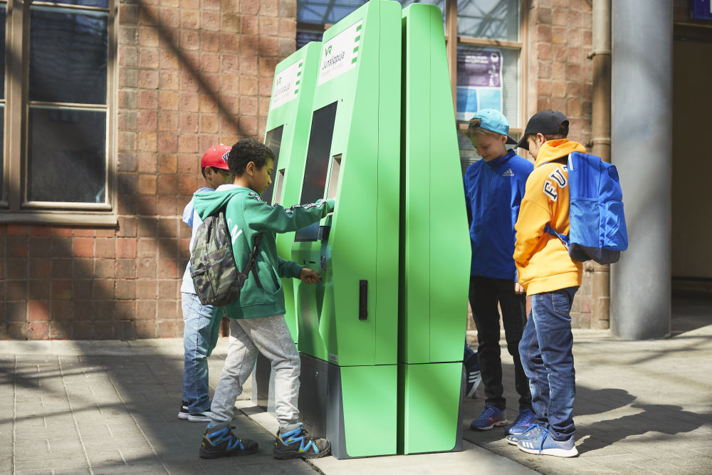 Our new ticket vending machines are easy to use