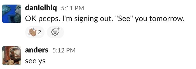 Sign off Screenshot
