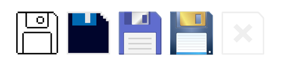 save icon through the ages