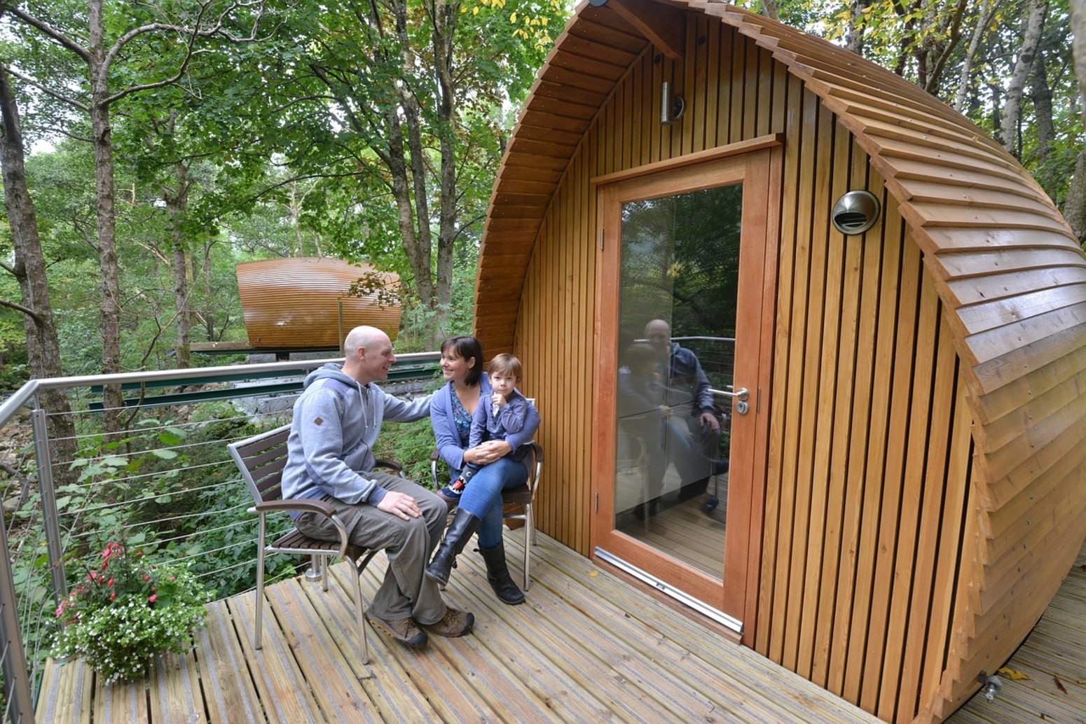 An example of glamping in the UK