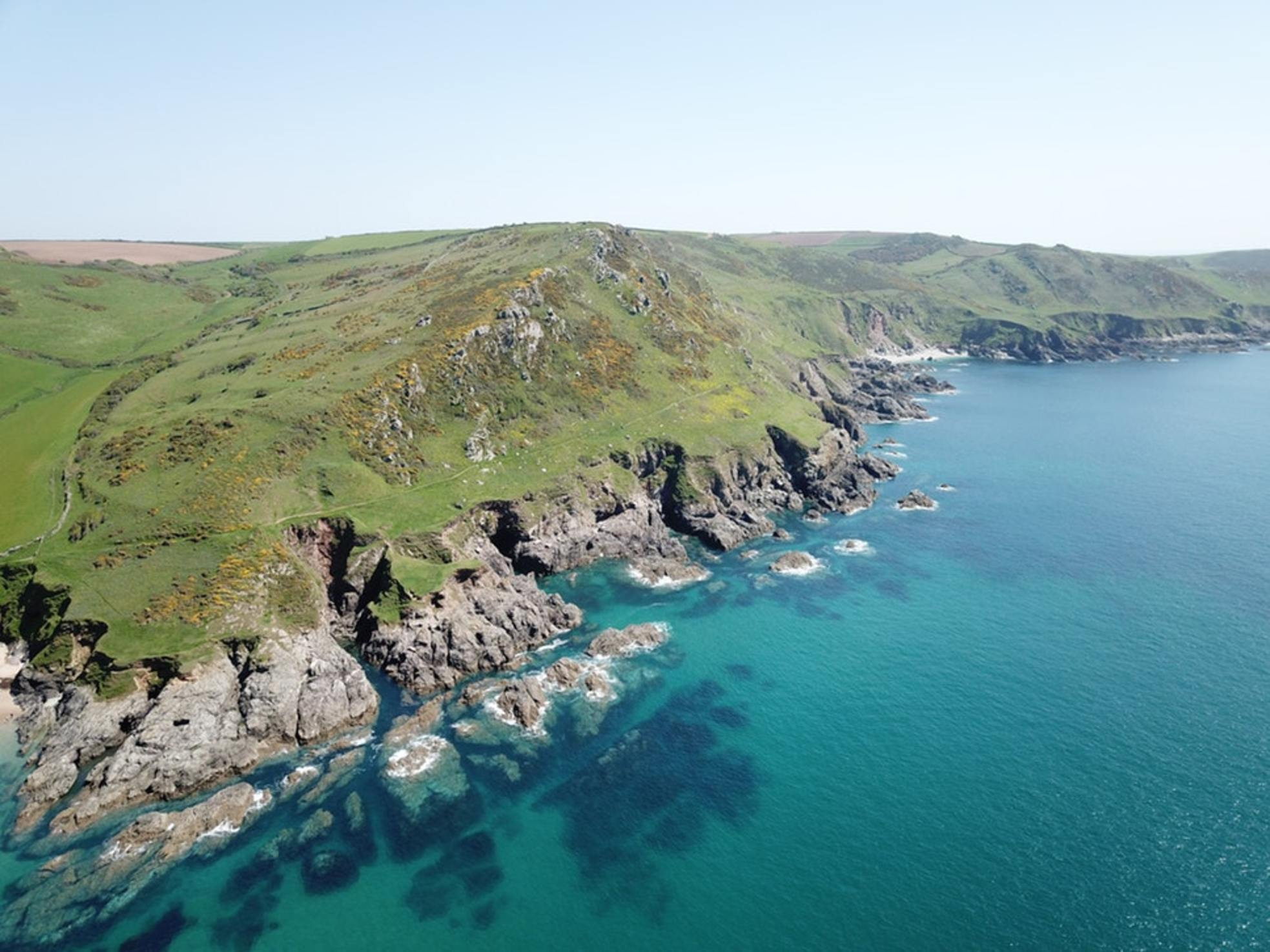 The rugged coast of Devonshire