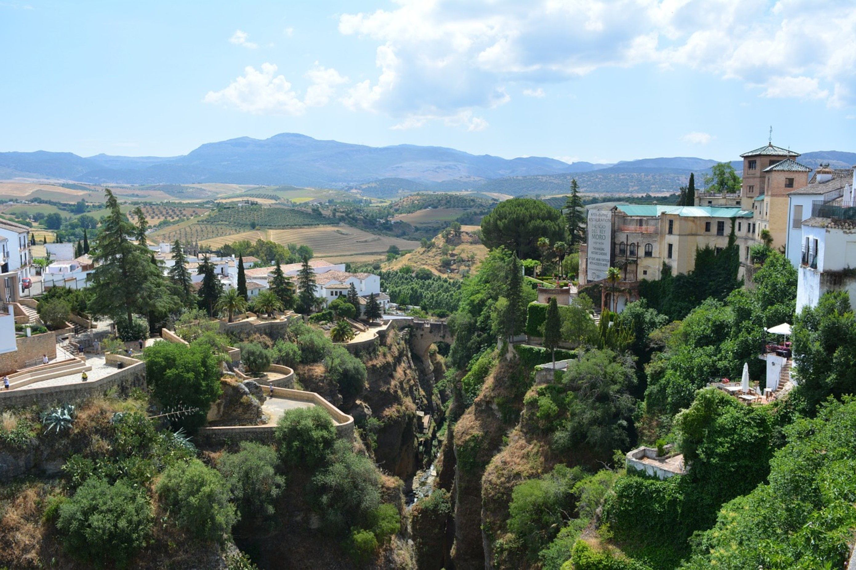 The gorge in Ronda, Andalusia