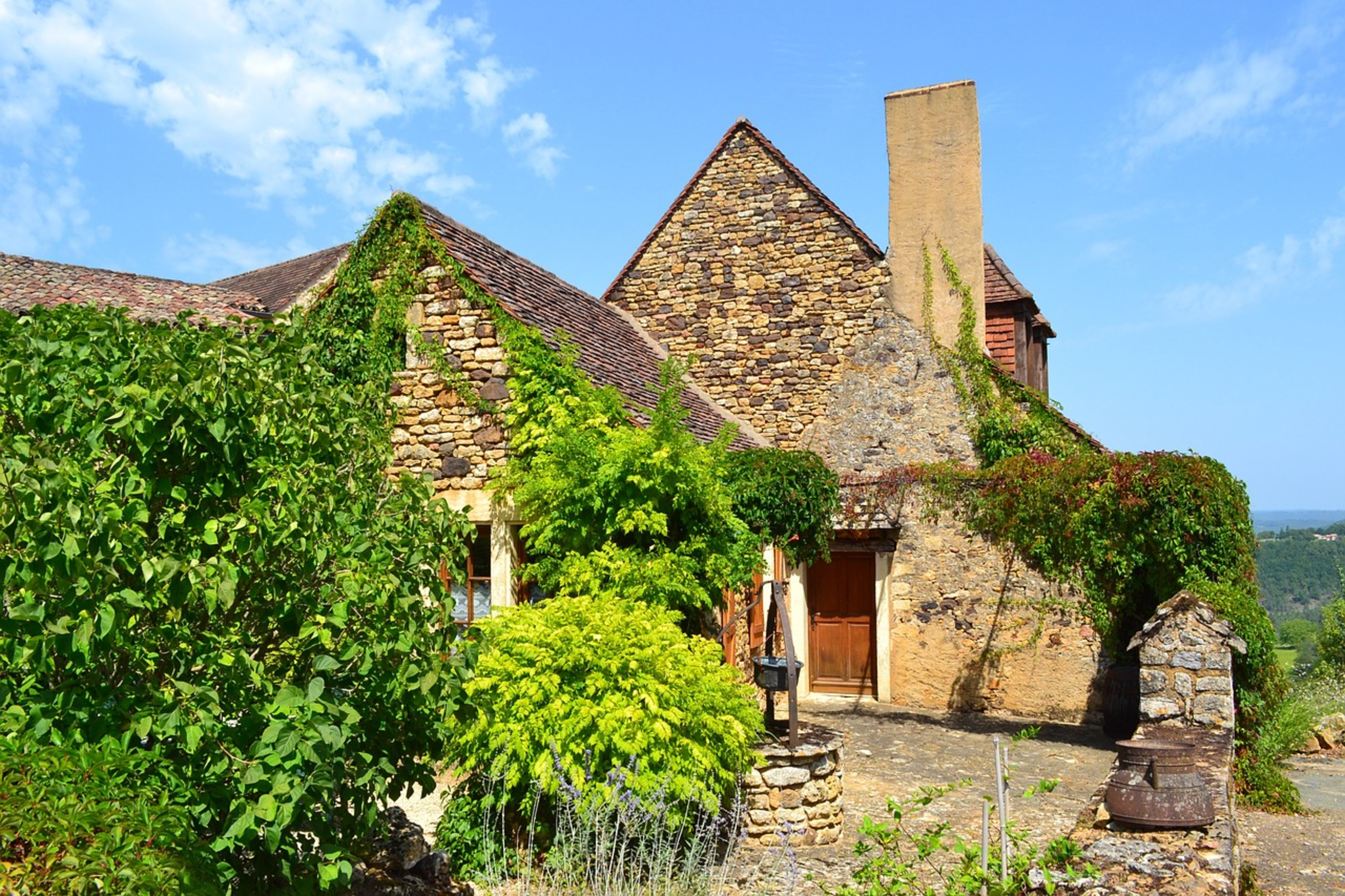 A medieval house in the Dordogne region of France