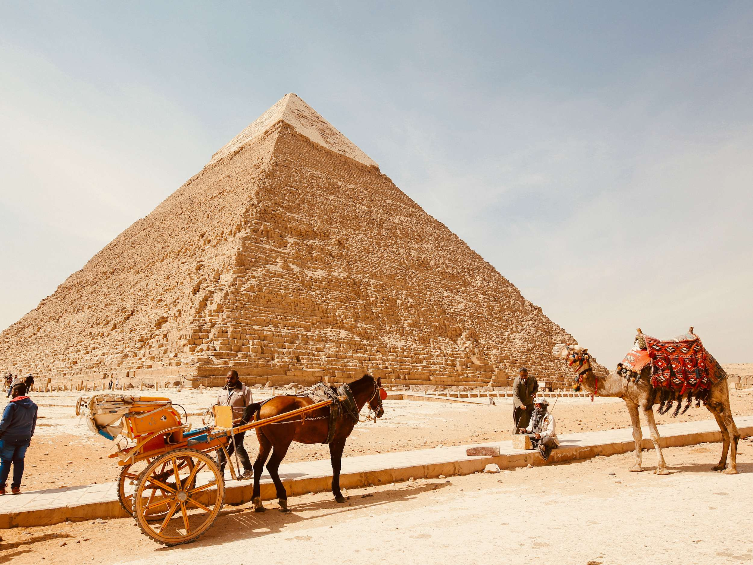 Pyramids in Giza a holiday destination in Egypt