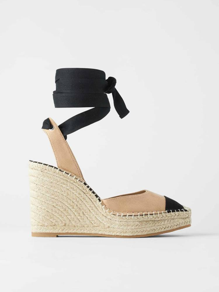 Tie Up Espadrille Wedges Collagerie