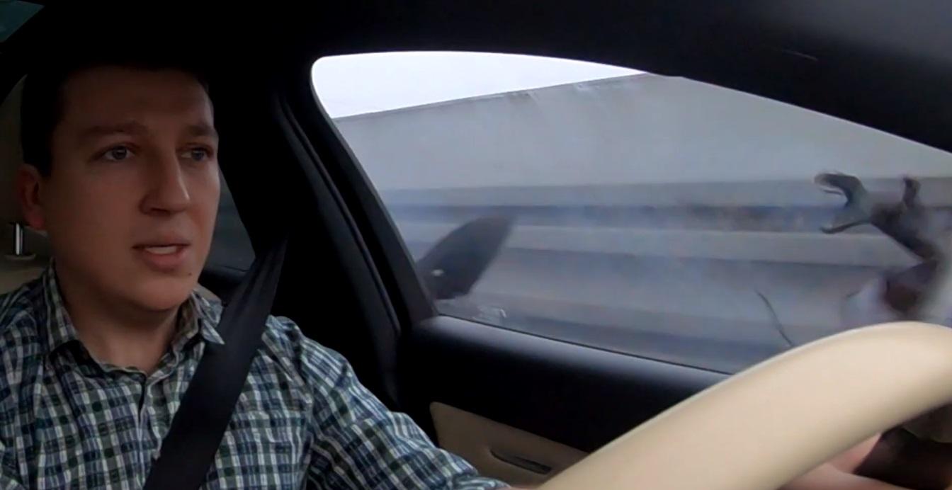Audi RS6 - opona wybuchła w trakcie jazdy