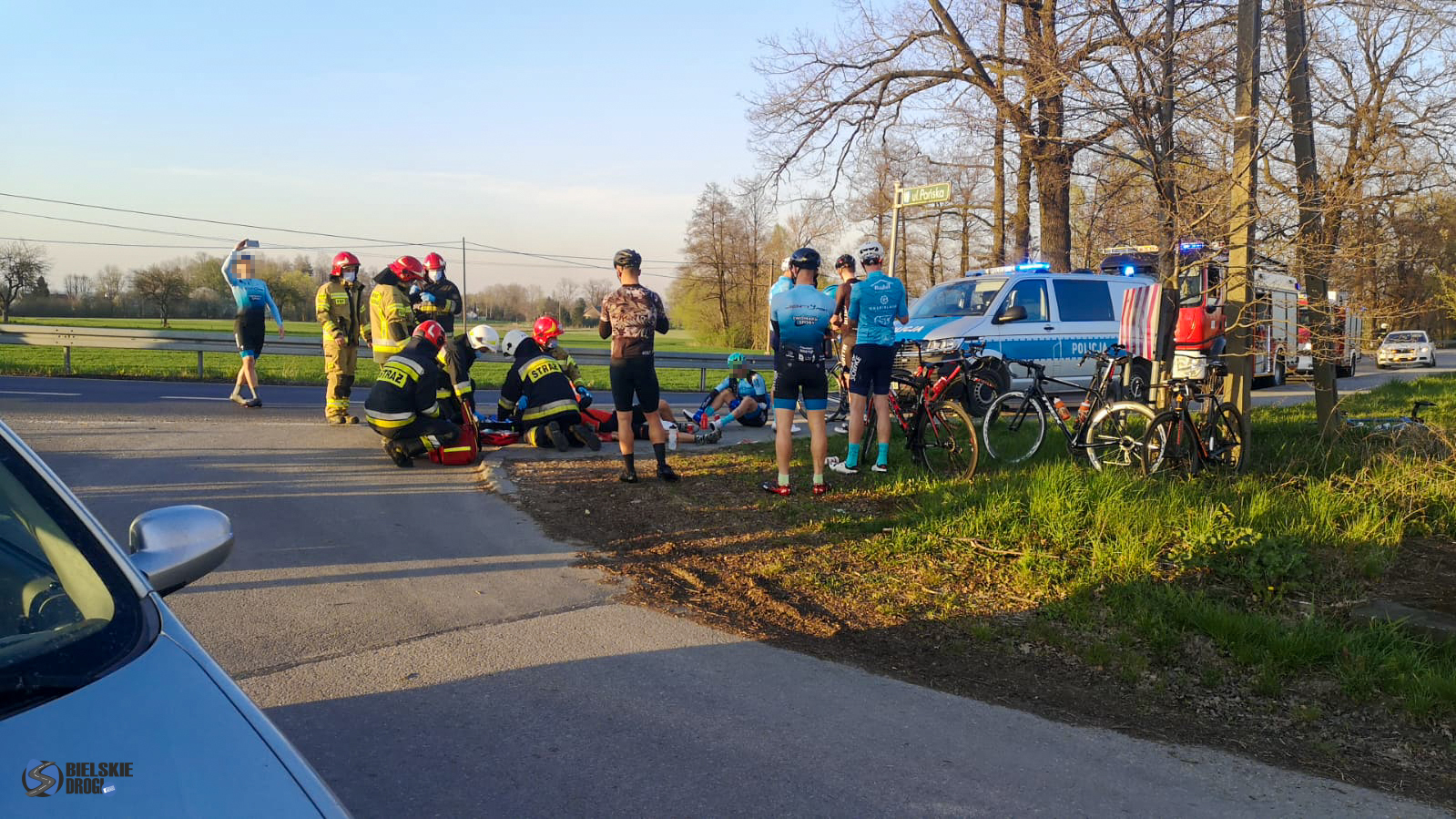Śląskie. Kobieta potrąciła trójkę rowerzystów w Ligoniu
