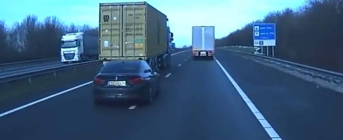 BMW kontra TIR. Szeryf w bawarce daje nauczkę kierowcy TIR-a
