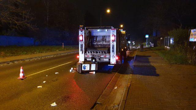 Kierowca potrącił pracownika komunalnego i uciekł z miejsca wypadku