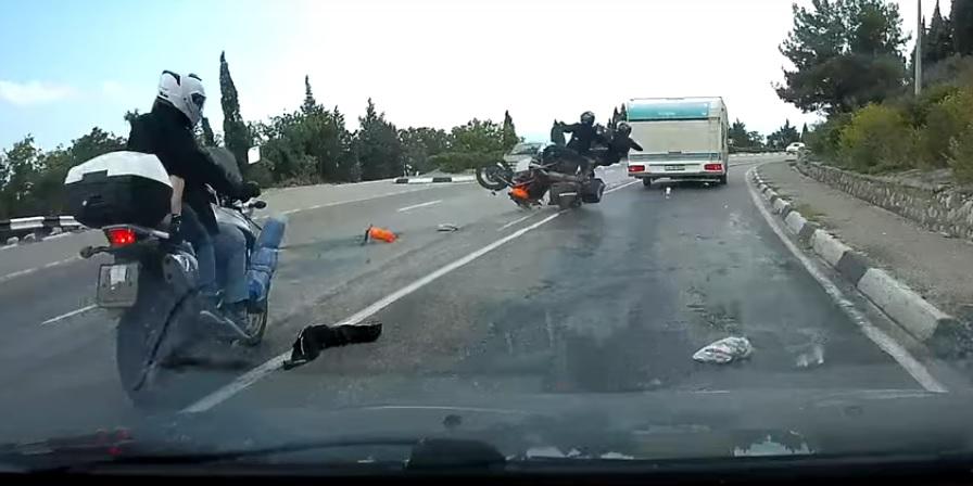 Wypadek Motocykliści