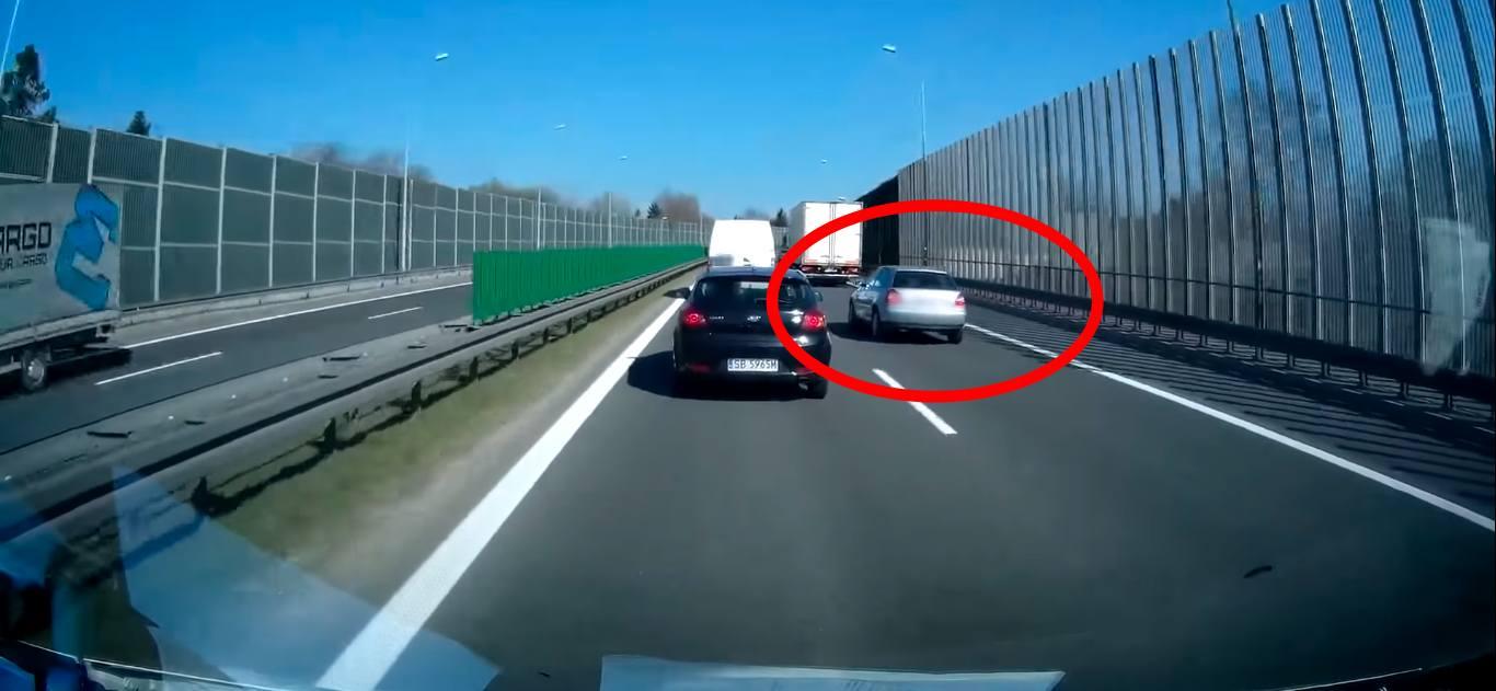 Audi niebezpieczny kierowca