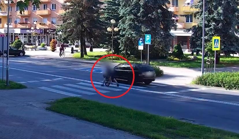 Ojciec w ostatniej chwili uratował dziecko, które niemal przejechał samochód