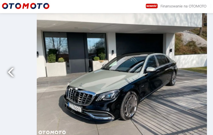 Mercedes-Maybach z Torunia na sprzedaż