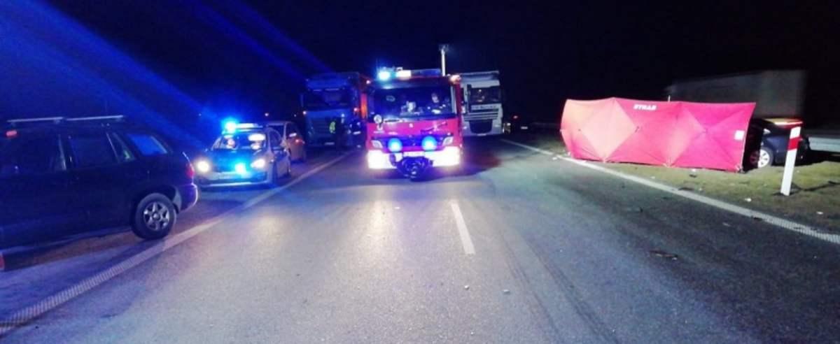 Audi zderzenie na autostradzie