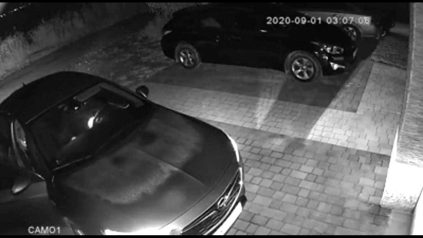 Wideo - kradzież Opla na walizkę