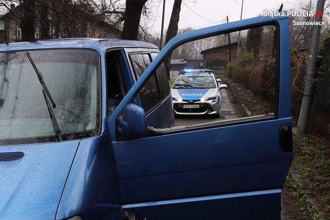 Śląska policja w Sosnowcu zatrzymała 35-latka pod wpływem narkotyków. Materiały Policyjne
