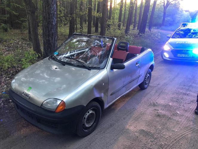 Kierowca seicento uciął dach w samochodzie. Dostał mandat