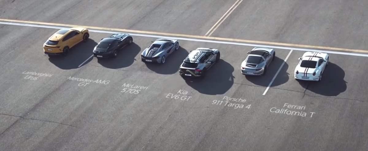 KIA EV6 kontra supersamochody w wyścigu