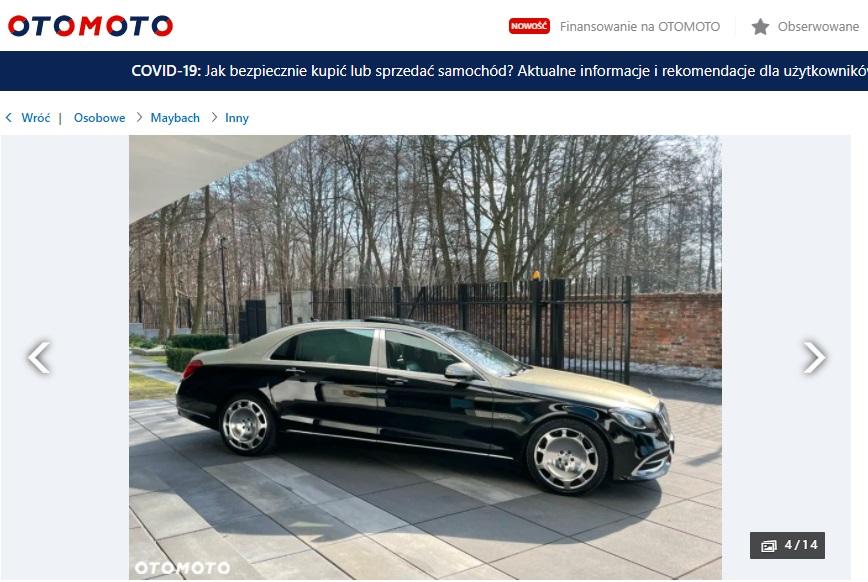 Mercedes-Maybach z Torunia na sprzedaż.