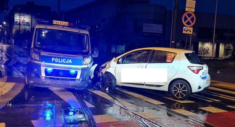 Policja kierowca wystawił się na tacy