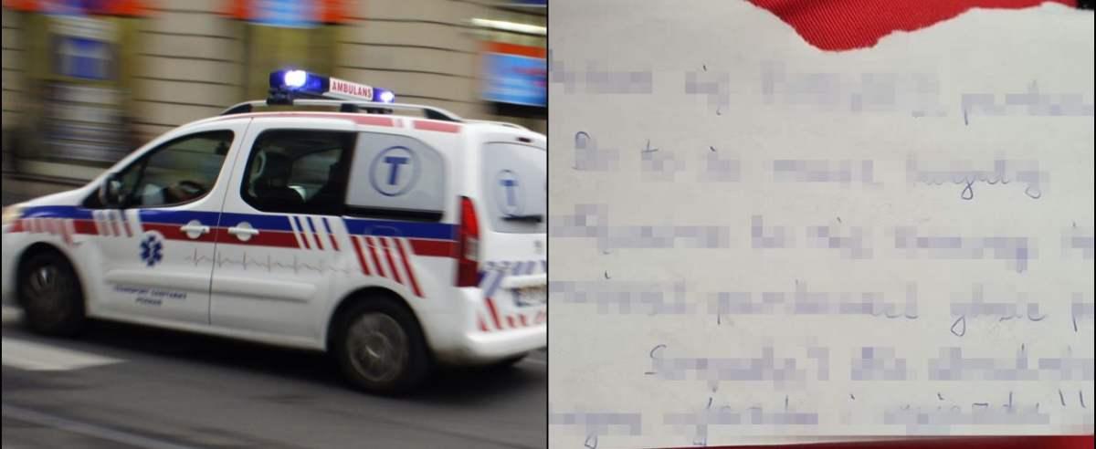 Karetka parkowanie list ratownicy