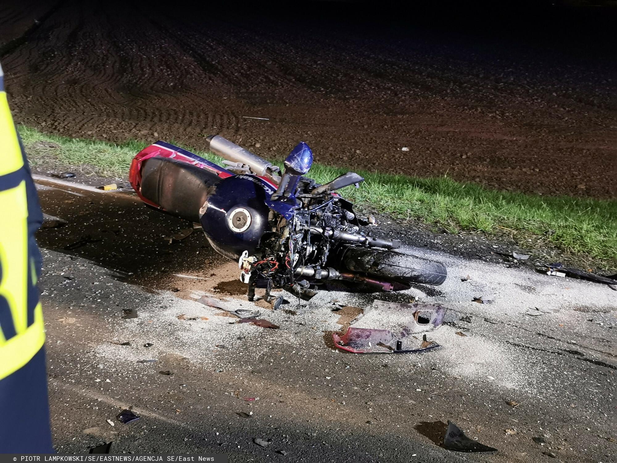 Wypadek motocyklisty. Był pijany, dostał odszkodowanie