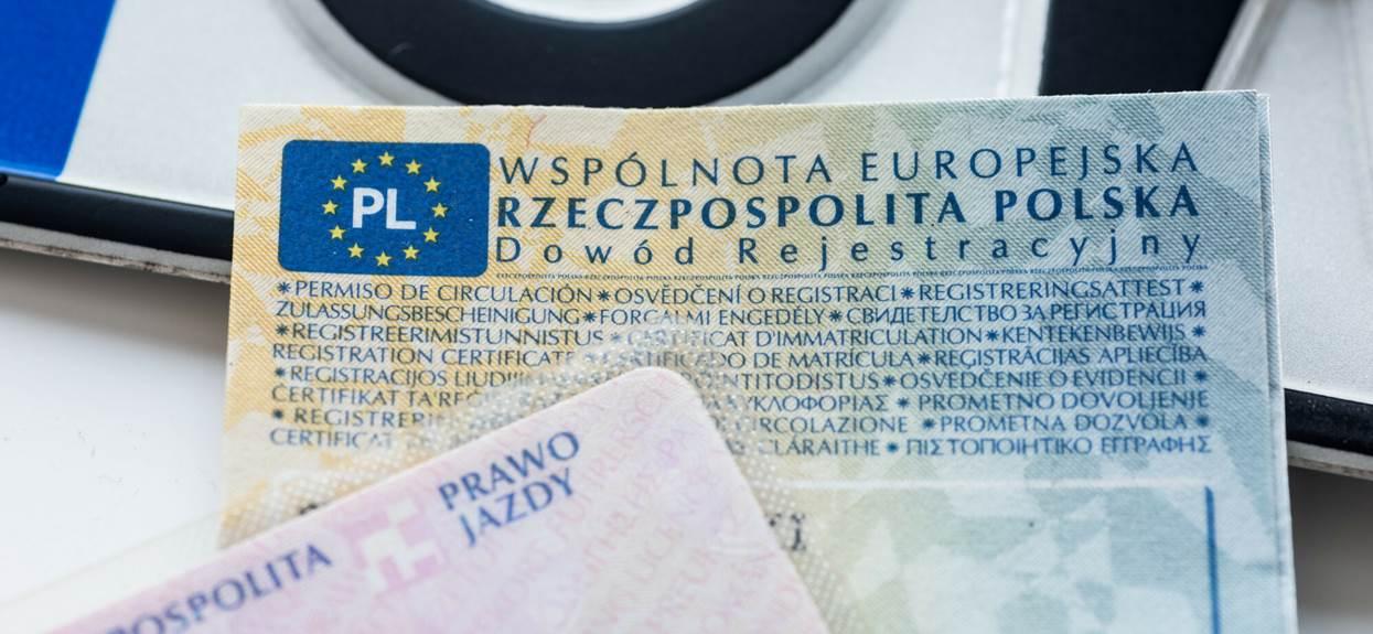 Rejestracja auta kara do 1000 zł