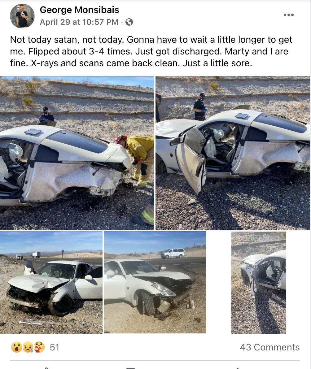 Kierowca nissana cudem przeżył okropny wypadek