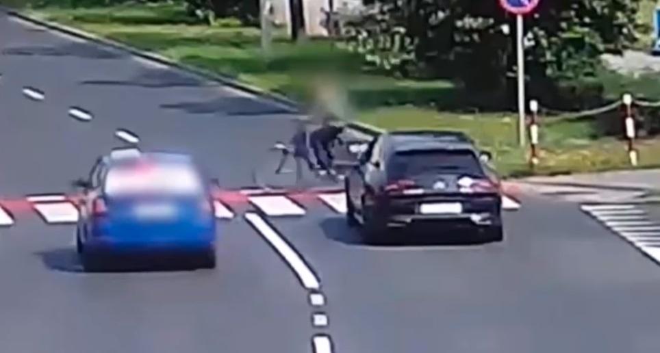 Policjanci z Zielonej Góry publikują nagranie. Doszło do dwóch groźnych wypadków