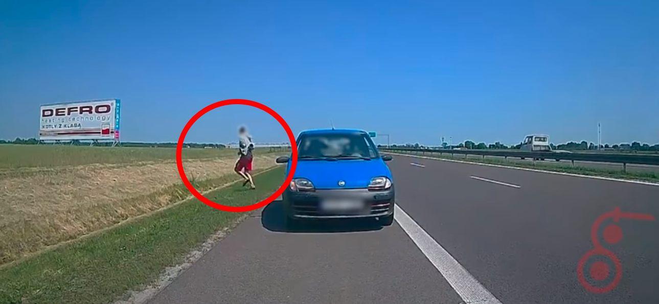 Pijany kierowca na autostradzie