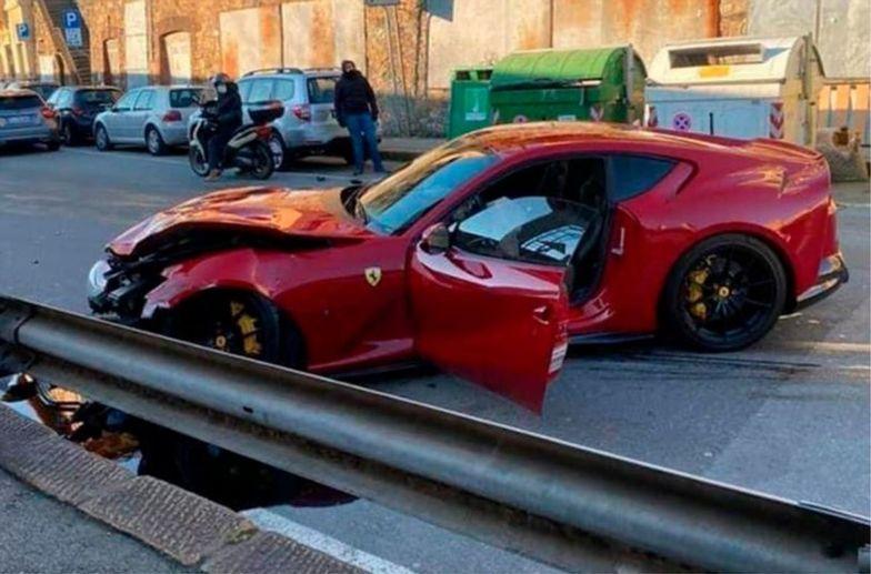 Ferrari rozbite przez pracownika myjni