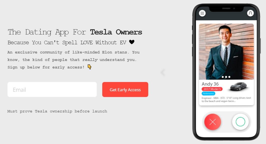 Tesla Dating - aplikacja randkowa dla właścicieli Tesli