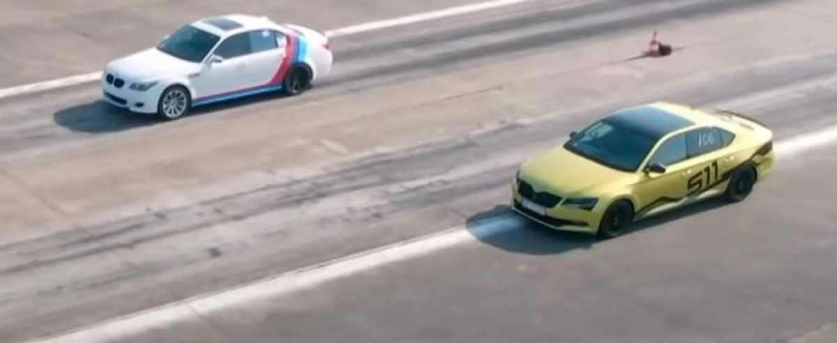 BMW M5 przegrało wyścig z niepozorną Skodą Superb
