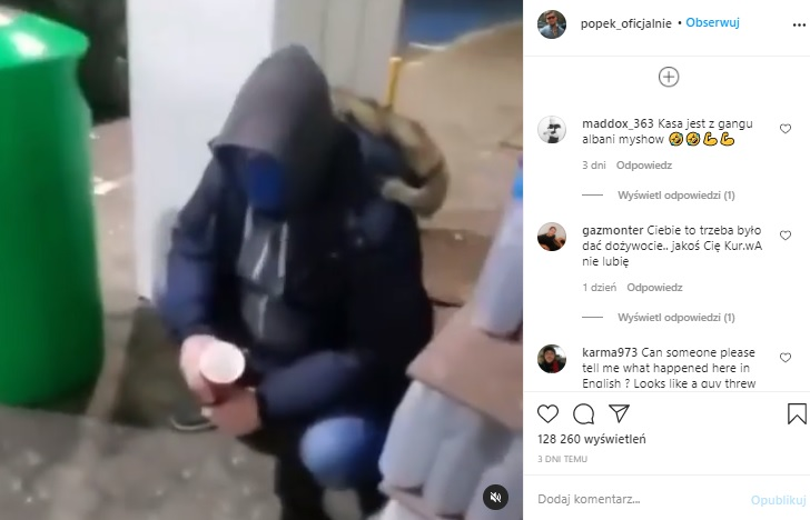 Popek znowu dostał auto od bezdomnego