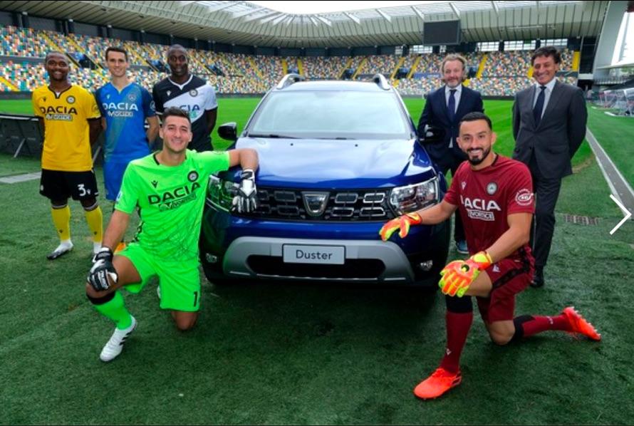 Dacia Duster dla piłkarzy Udinese