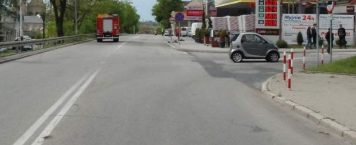 Wypadek 28-letniego motocyklisty. Stracił nogę