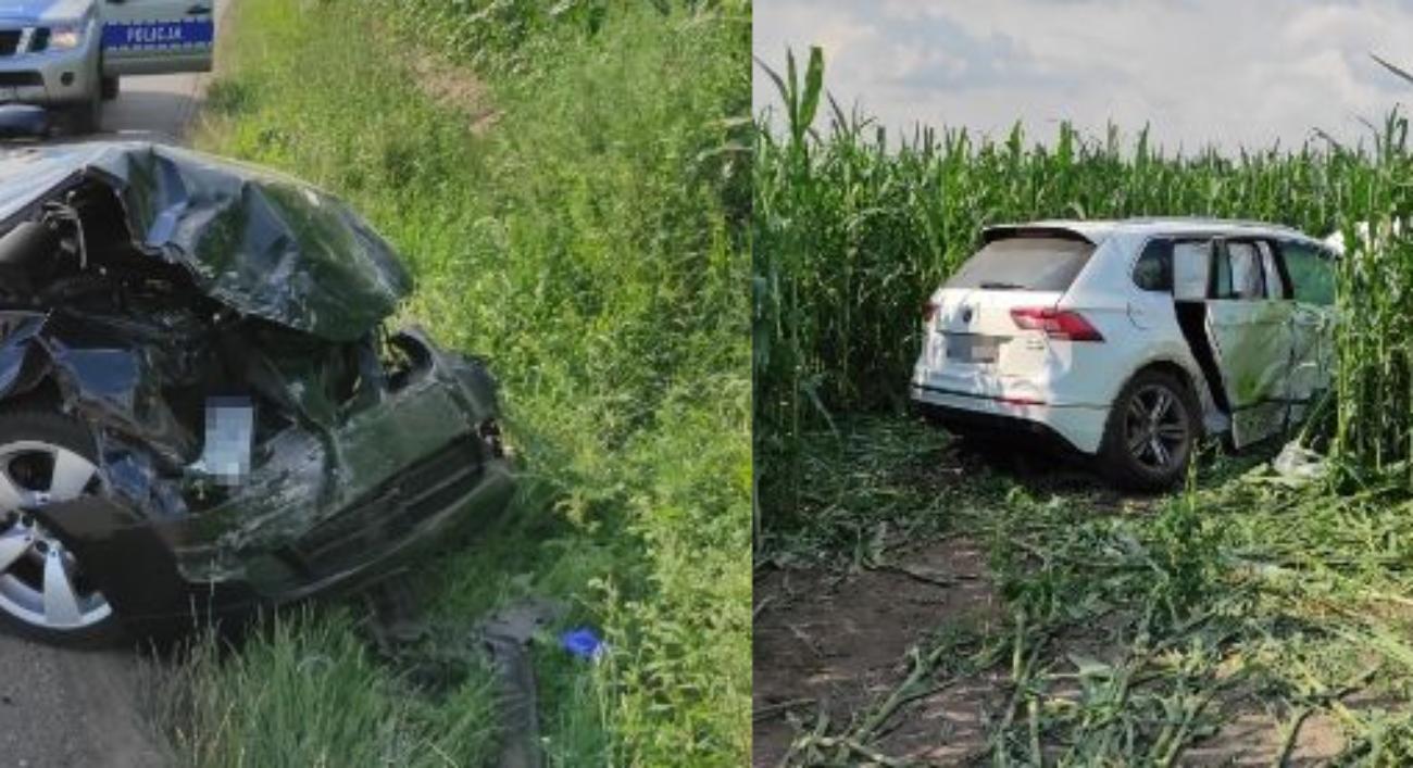 Wypadek BMW i Volkswagen