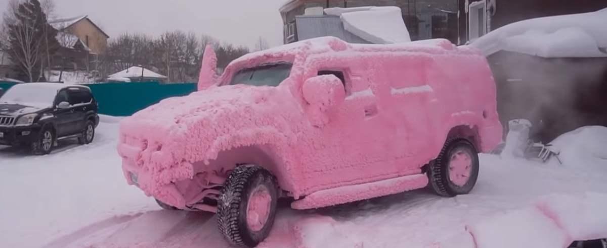 Mycie auta w ujemnej temperaturze