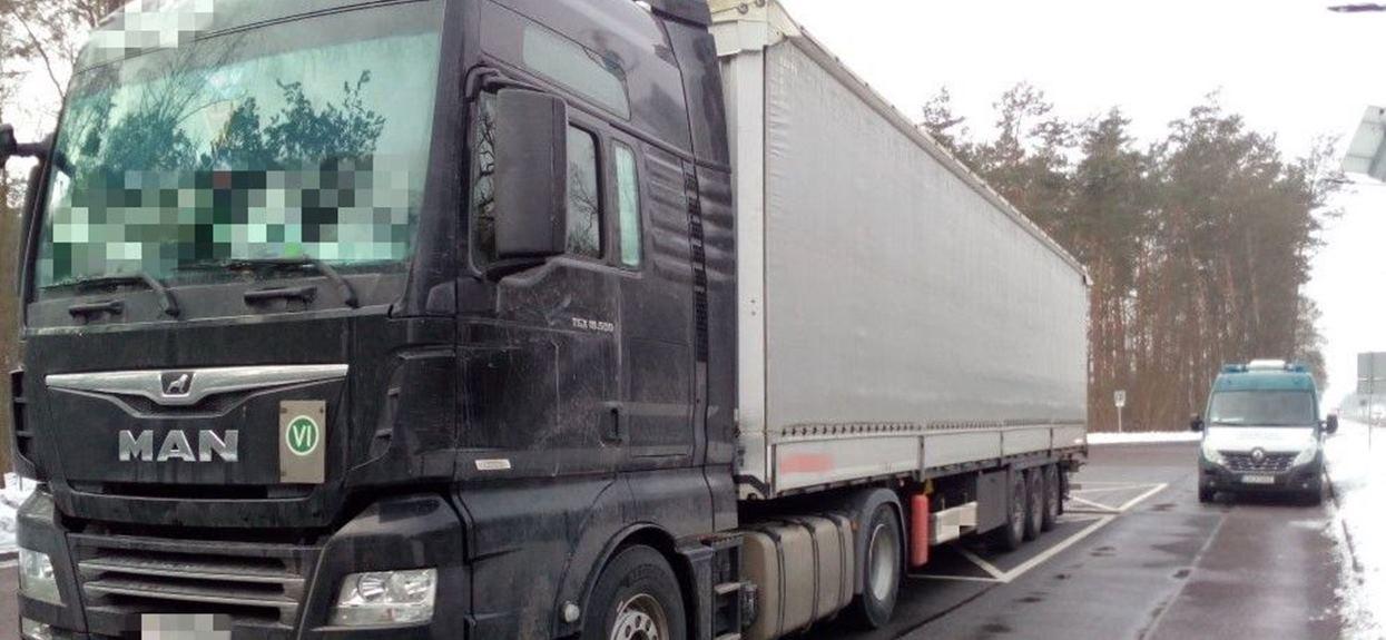 Ciężarówka kontrola ITD