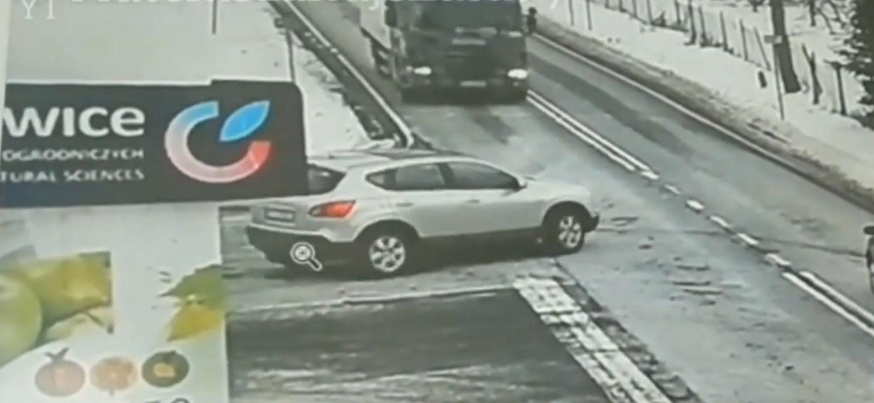 Ciężarówka uniknięcie zderzenia