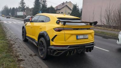 Lamborghini Urus Mansory wypadek