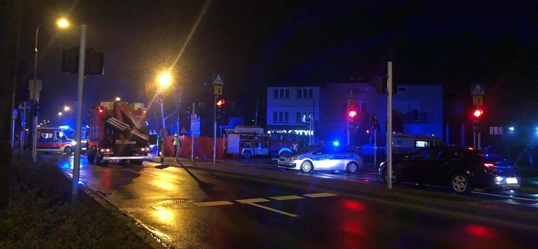 Wypadek w Piastowie