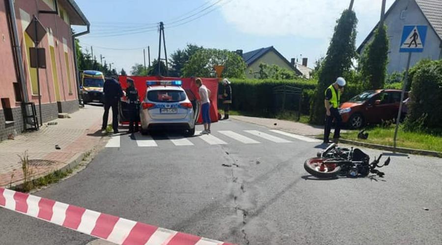 Wypadek śmierć motocyklisty