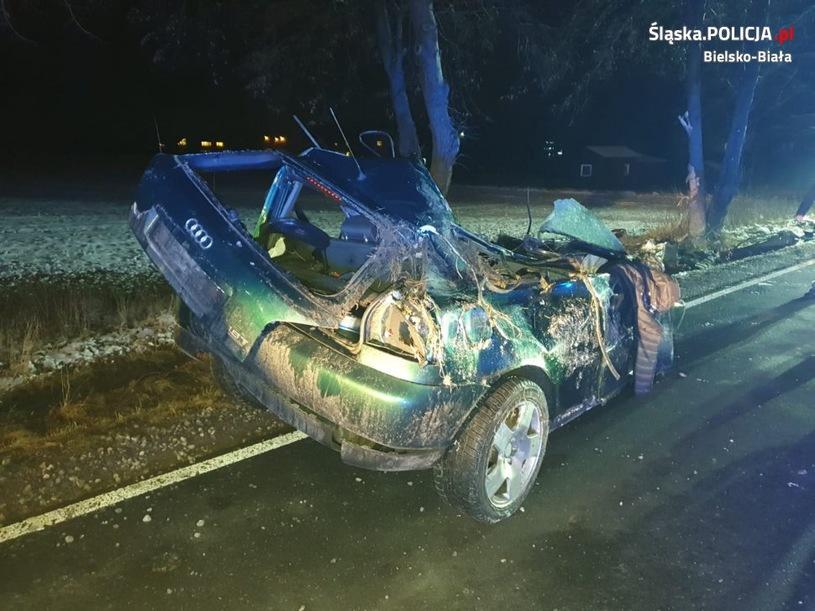 Wypadek Audi - Śląsk